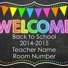 This powerpoint is perfect for any back to school events: Back to School Night, Open House or the First Day of School. It includes 33 different sli...