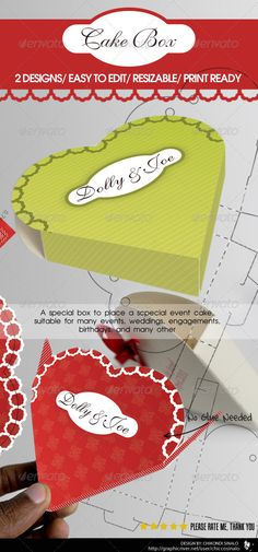 Cake Box Packaging template