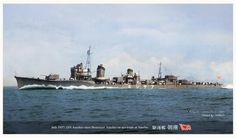IJN Asashio - Caccia torpediniere - Dislocamento2408 t Lunghezza115 m Larghezza10,3 m Pescaggio3,7 m Propulsione2 Gruppi di turbine a vapore su 2 assi; 3 caldaie; potenza 50.000hp Velocità35 nodi Autonomia5700 n.mi. a 10 nodi Equipaggio200
