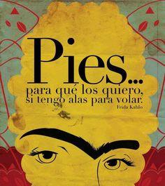 Citas Frida Kahlo. Escrito por la artista mexicana Frida Kahlo, quien sufrió de fibromialgia después de un accidente, debiendo pasar largos períodos en cama..-- Es verdad, estamos muy limitadas físicamente, pero Pinterest me presta alas para volar. Tu amiga,Lucía.