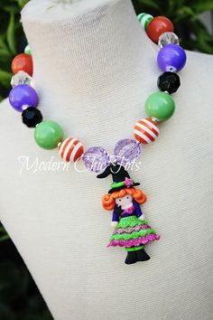 Little girl's witch necklace