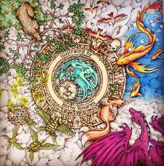 From Mythomorphia by Kirby Rosanes.  My new favorite book!  Left side...  #mythomorphia   #adultcoloringbook   #coloringforadults   #wonderfulcoloring   #boyan_bayan   #coloringmasterpiece  #arte_e_colorir
