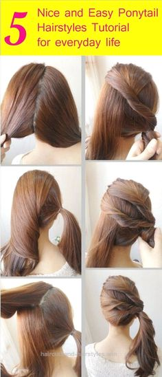 Insane Looking for some nice and easy ponytail hairstyles idea? We are here with five nice and easy ponytail hairstyles. Ponytails are casual but if designed properly, ..