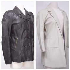 Duarte black leather jacket, Veda bone leather jacket