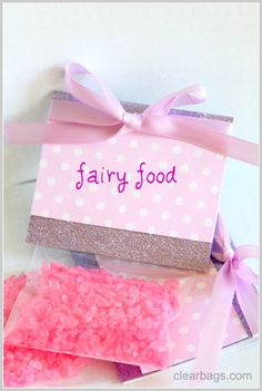 Fairy food, crushed rock candy favors
