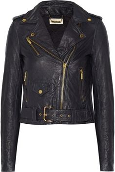 Michael by Michael Kors Leather Biker Jacket