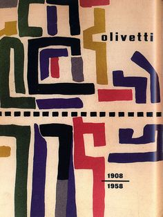 Giovanni Pintori book cover for Olivetti, 1958