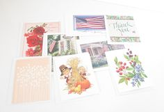 Mixed Lot of 8 Greeting Cards, Stationary, Note Cards, Unused With Envelopes