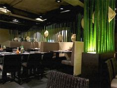 bamboo restaurant decoration - Google Search