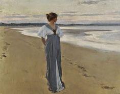 William Henry Margetson - British Painter 1860-1940  'The Seashore. Impressioni Artistiche : ~ Al di là ~