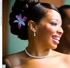african american wedding hairstyles hairdos real bride floral updo black wedding hairstyles