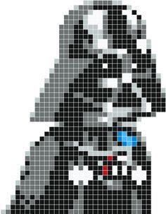 Darth Vader pixel art - Stickaz