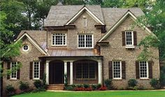 Vinings - Plan # 96202 | Country-Farmhouse-Southern **Master Downstairs**.  Very pretty and I love the brick.
