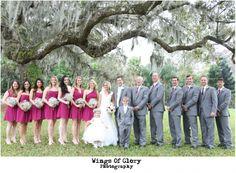 Fuchsia inspired wedding colors! Leu Gardens, Orlando FL. – Wings of Glory Photography Tickled Pink Brides wedding coordination //