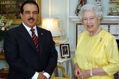 royal family of bahrain -King of Bahrain and Queen of England