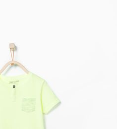 Organic cotton T-shirt with pocket from Zara