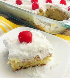 Coconut Cream Pina Colada Poke Cake!