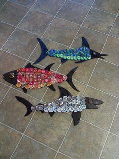 Beer cap fish