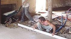 Réalisation d'une dalle en béton de chaux