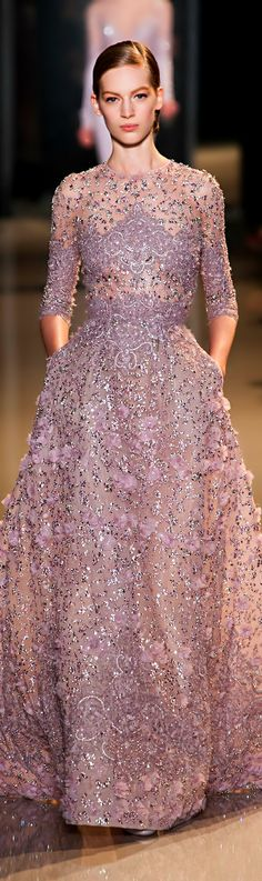 Elie Saab Spring 2013 Couture Runway - Elie Saab Haute Couture Collection - Elie Saab, you are a genius. Elie Saab Haute Couture, Style Haute Couture, Spring Couture, Couture Fashion, Runway Fashion, Couture Bridal, Robes Elie Saab, Elie Saab Printemps, Robes Glamour