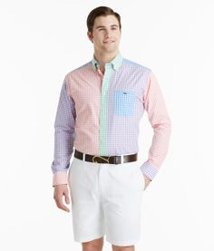 Buy Men's Gingham Party Tucker Button Down Shirt | Vineyard Vines®