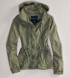 Casual Army Jacket Hoodie