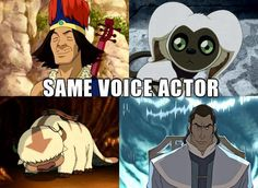 The Legend of Korra/ Avatar the Last Airbender: Dee Bradley Baker everyone, voice actor God