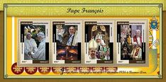 Stamp: Pope Francis (Central African Republic) (Pope Francis) Mi:CF 7010-7013KB