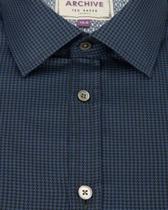 Houndstooth shirt - Blue | Shirts | Ted Baker UK