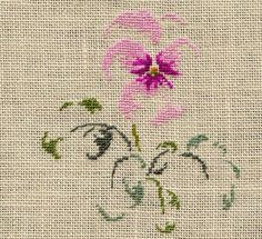 The thought of the night rose free pattern Cross Stitch Needles, Cross Stitch Charts, Cross Stitch Designs, Cross Stitch Patterns, Ribbon Embroidery, Cross Stitch Embroidery, Embroidery Patterns, Saint Aubin, Cross Stitch Flowers