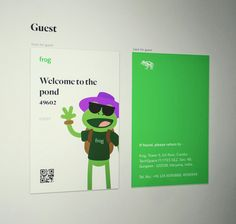 frog ID card concept for Guests.  #idcard #frog #designfirm #guest #branding #pond