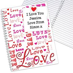 Personalised Lots of Loves Notebook  from Personalised Gifts Shop - ONLY £6.95