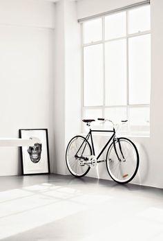 Bright! light window bycicle home interior decor decoration art