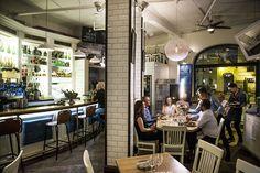 Restaurantanmeldelse av Pinerolo Americano: Overbevisende amerikansk Oslo, Liquor Cabinet, Restaurants, Dining, Home Decor, Places, Food, Decoration Home, Room Decor