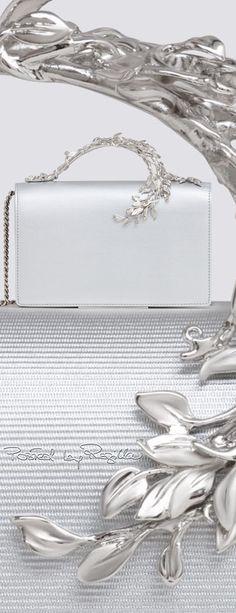 Rosamaria G Frangini | High Clutch | White and Silver Clutch