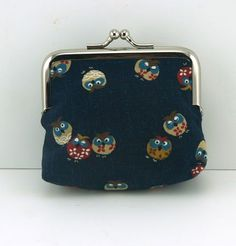 "Retro Coin Purse ""Owls"""