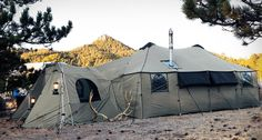 This new tent from Cabela's will certainly make your next camping trip a little more luxurious. It is a bit heavy but extremely spacious once set up.