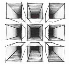 Image result for one=point perspective worksheets