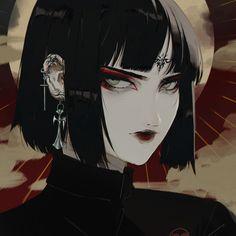 Dark Anime Girl, Anime Art Girl, Manga Girl, Gothic Anime, Character Inspiration, Character Art, Character Design, Cartoon Kunst, Cartoon Art