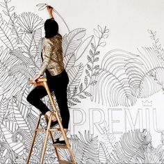 my work and i . wallpainting and mural Artist Lena Petersen www.lenapetersen.de