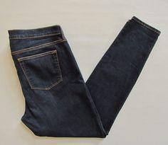 "GAP 1969 Legging Jeans 33 16 Santa Cruz Blue Dark Stretch skinny Denim H2014 30"" #GAP #Leggings"