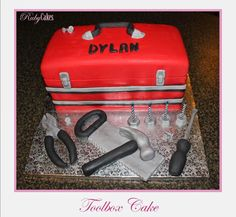 Toolbox Cake Tool Box Cake, Cakes For Men, Toolbox, 50th, Birthday Cake, Entertaining, Baking, Recipes, Ideas