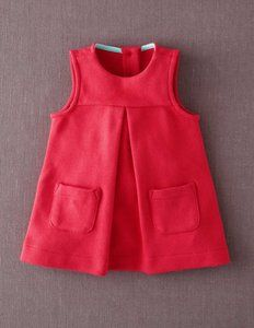 Ponte Roma Jersey Pinnie 73104 Dresses & Pinnies at Boden Little Red Dress, Little Girl Dresses, Sewing For Kids, Baby Sewing, Toddler Outfits, Girl Outfits, Bebe Love, Little Fashionista, Kid Styles