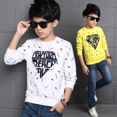 c734de1fc Summer teenagers boys clothing sets Hip-hop costume school print T ...
