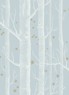 Cole and Sons Whimsical Wallpaper Wood and Stars