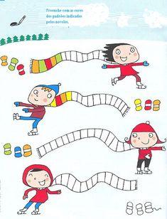 observe et colorie fait hiver 2018 Thema Winter Im Kindergarten, Kindergarten Math, Winter Kids, Winter Sports, Preschool Worksheets, Preschool Crafts, Winter Activities, Preschool Activities, Winter Thema