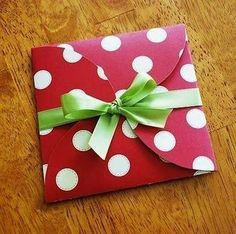 How to make an envelope for a small present or gift card