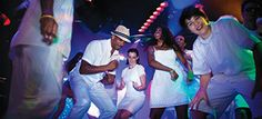 """It's ALWAYS fun to see everyone in ALL WHITE on """"White Hot Party"""" night on-board NCL's ships!! @Norwegian Cruise Line"""