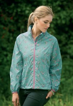 Mac in a Sac Elle Waterproof Jacket. A chic new take on our Mac in a Sac 2, incorporating a summery floral pattern to make you stand out in the rain this summer | Mac in a Sac http://www.targetdry.com/collections/ladies-jackets/products/mac-in-a-sac-ladies-elle-waterproof-jacket