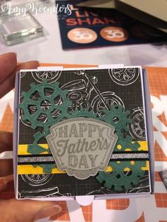 Stampin' Up! geared up garage Birthday Cards For Men, Man Birthday, Fathers Day Cards, Happy Fathers Day, Stampin Up Cards, Men's Cards, Card Making Inspiration, Masculine Cards, Baby Cards